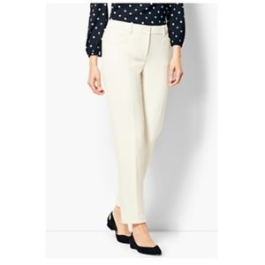 Talbots hampshire ankle ivory pants size 2